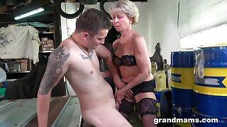 Czech Granny Romana Has Fun with Hung Guy