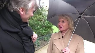 Alluring french GILF crazy adult scene