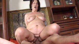 Fabulous Granny, Blowjob porn video