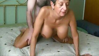 Fit Granny's Cunt Aches for junior Cock