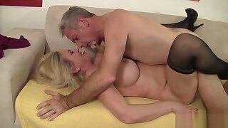 Blonde Granny Cala Craves Fucks Old Man