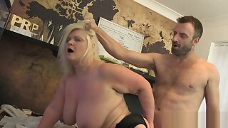 Chubby old lady with big tits analized