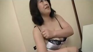 Alluring Japanese aged's bawdy cleft creampied