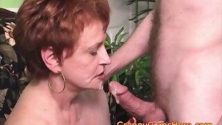 Filthy Cum Sucking Granny