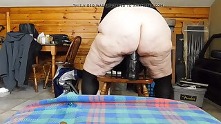 BBW Granny is too loose to feel less than a monster dildo