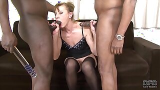 Granny interracial hardcore sex getting double penetrated because she is a horny old lady craving big black cock in her ass and pussy