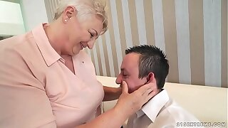 Chubby mom licking her lover's asshole