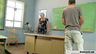 Pervert student fucks mature teacher