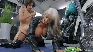 Biker horny granny wants to be fucked hard