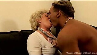 old granny and the striptease dancer