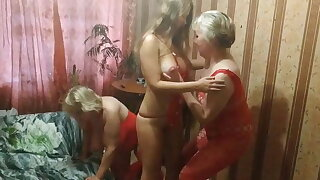Real mother and daughter with their friend invite you