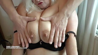 Busty British Lacey Starr tied up by her stepson