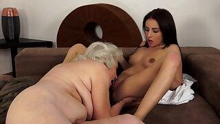 Old 79yo and young 22yo lesbian