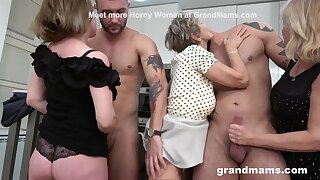 First Ever Granny Orgy Cock Fest