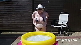 Sally in a very very small bikini and then naked
