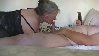 Danish Granni gives me a wonderful blow