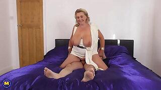 Mature goddess BBW sucks and fucks big cock