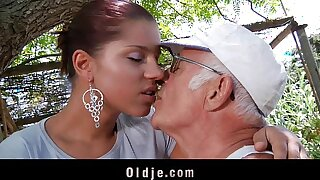 Big dick oldman fucks his much y. sexy girlfriend