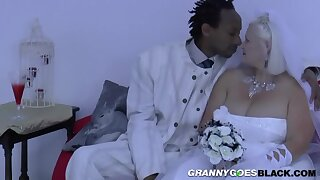 Grandma Bride Suck Black Male Stick - Interracial Intercourse
